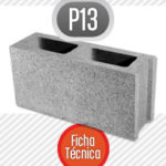 Bloque de cemento P13