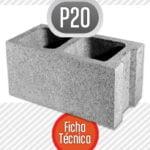 Bloque de cemento P20