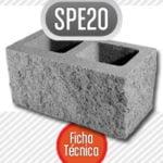 Bloque de cemento SP20 esquinero