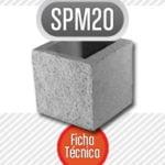 Bloque de cemento mitad SPM20