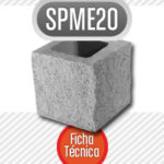 Bloque de cemento mitad SPME20