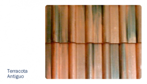 Teja terracota antiguo texturas