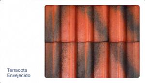 Teja terracota envejecida texturas