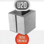 Bloque de cemento mitad U20